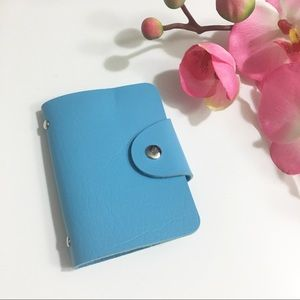 COPY - Blue Photo / Card Leather Wallet